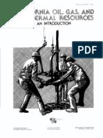 California Oil Ga and Geothermal Resources