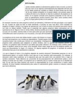 Los pingüinos y el calentamiento global