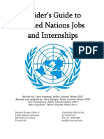Insider's Guide to UN Jobs and Internships