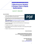 Clinical Effectiveness Bulletin no. 74 March 13
