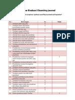 Lembar Evaluasi Dan Review Jurnal Kimia Dan Pendidikan Kimia