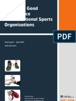 Action for Good Governance in International Sports Organisations  - Final Report