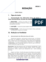 Redação - Aula 01 - Tipos de texto