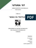 Mems Based Textile