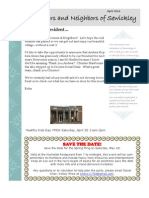 Newcomers April 2013 Newsletter