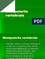 Manipularile vertebrale