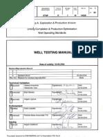 ENI Well Testing Manual