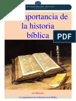 La Importancia de La Historia Biblica
