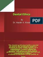 (2) Principles of Dental Ethics I