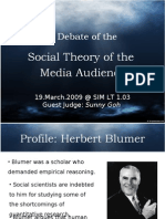 T2_The Media Audience - Social Theory