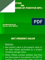 sources of positive net present value...