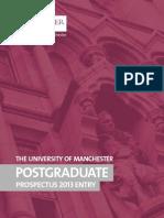 University of Manchester Prospectus