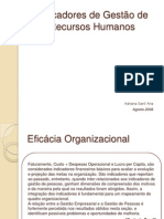 Indicadores de Gestao de Recursos Humanos remuneração