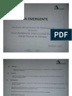 Documento que revela Plan Garrote contra Mexicana