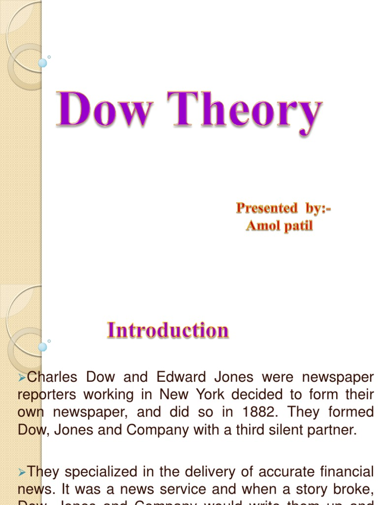 Final Ppt on Dow Theory   Market Trend   Dow Jones