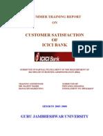 Customer Satisfaction-ICICI Bank-Priyanka Dhamija