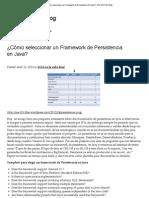 ¿Cómo seleccionar un Framework de Persistencia en Java_ _ The SOA 101 Blog