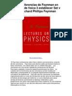 Las conferencias de Feynman en volumen de física 3 establecer Set v por Richard Phillips Feynman - 5 estrellas reseña del libro