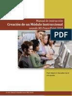 Creación de módulo instruccional utilizando PowerPoint 2010