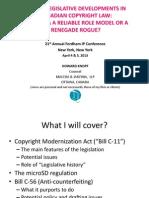 HPK Slide Show Re CDN Legislative Developments Fordham 2013 Final