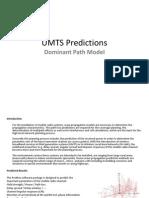 UMTS Predictions-Dominant Path Model