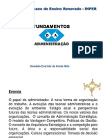 Fundamentos da Administração Parte 1 - Oswaldo