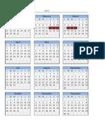 Copia de Calendario 2013 en Excel Lunes Domingo