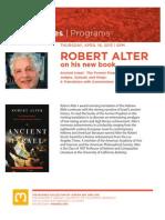 Robert Alter Book Talk