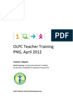 OLPC Oceania Teacher Training Report