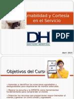 DOCTORS HOSP. Curso de Amabilidad y Cortesía ´13.odp