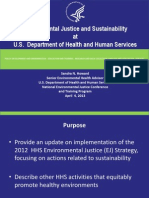 Environmental Justice and Sustainability  at  U.S.  Department of Health and Human Services by Sandra Howard