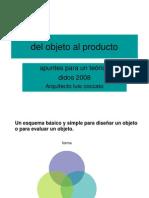 2008 Del Objeto Al Producto