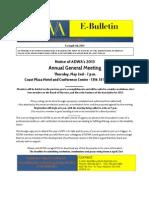 ADWA AGMAnnouncementE Bulletin 1