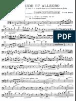 Bozza - Prelude Et Allegro - Bass Trombone Part