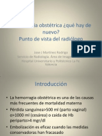 hemorragia obstetrica radiologo