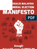 Socialist Party of Malaysia's 2013 general election manifesto