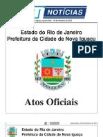 DIARIO OFICIAL DE NOVA IGUAÇU . Quarta-feira, 20 de fevereiro de 2013