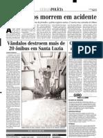 2001.02.28 - Três pessoas morreram e duas ficaram feridas - Estado de Minas