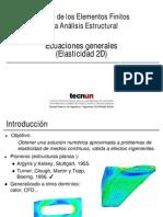 Ecuaciones Generales Del MEF en Elasticidad
