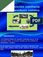 Disposición sanitaria de residuos sólidos