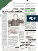 2001.10.21 - Acidentes matam três nas estradas - Estado de Minas