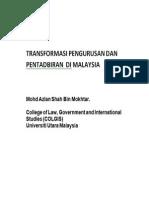 TRANSFORMASI PENGURUSAN DAN PENTADBIRAN  DI MALAYSIA
