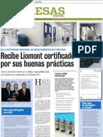 Las buenas prácticas de los Laboratorios Liomont