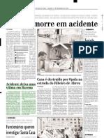 2001.12.22 - Acidente deixa uma vítima em Ravena - Estado de Minas