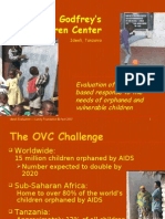The Godfrey's Children Center Idweli, Tanzania Evaluation of A