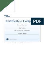 certificate report facebooktraining wickline