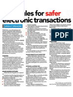 New Rules for Safer Electronic Transactions