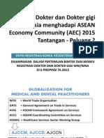Dokter dan Dokter gigi                  di Indonesia menghadapi ASEAN Economy Community (AEC) 2015 Tantangan - Peluang ?