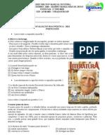 AVALIAÇÃO diagnóstica DE PORTUGUÊS 2012