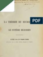 Béchamp Antoine - La théorie du microzyma et le système microbien